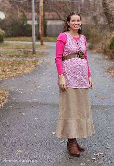 Corduroy Fall Maternity Outfit for the Second Trimester!
