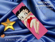 SALE 15% OFF - Peyote Pattern Bracelet Cuff Beading Miyuki Delica Size 11 Beads - PDF Download - Betty Boop 2