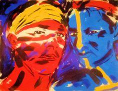 'Indianerportrait'door Luciano Castelli uit 1982.
