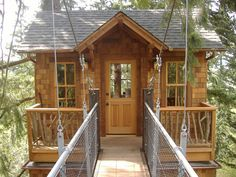 Hideaways and Studios  --  TreeHouses are not just for kids anymore. In urban backyards or on forested acreage, the majority of our work has been for families who are looking for more space and happened to 'look up'.    A playroom for the kids, art studio for mom, cigar room for dad, or a game cabin for the whole family, this group of treehouses under 400 sq. ft. are as diverse as they are fun. Everyone is allowed in these tree houses!