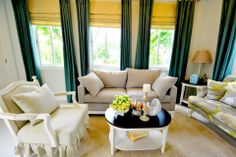 Crown Asia by Vista Land Sofa, Couch, Big Houses, Elegant Homes, Inspired Homes, Home Builders, Pearl, Living Room, Model