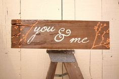 Reclaimed YOU & ME Salvaged Rustic Wood Home Decor by SalvageOwl, $19.99