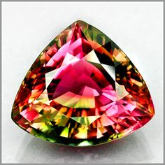 According to ancient Egyptians, tourmaline, on its way up from the center of the earth passed over a rainbow. In doing so, it acquired all the colors.