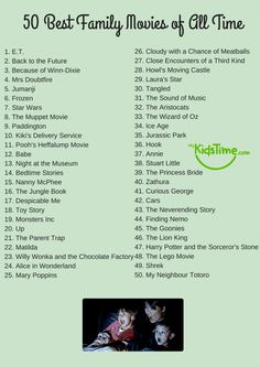 netflix movies 50 of the Best Family Movies of All Time Checklist Netflix Movies To Watch, Movie To Watch List, Good Movies On Netflix, Disney Movies To Watch, Good Movies To Watch, Teen Movies, Best Movies List, Best Disney Movies, Most Watched Movies