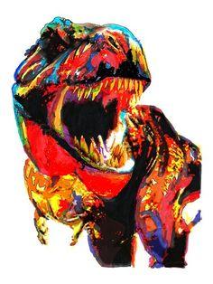 Tyrannosaurus Rex, T Rex, Dinosaur, Tyrant Lizard Gor Gor POSTERw/COA