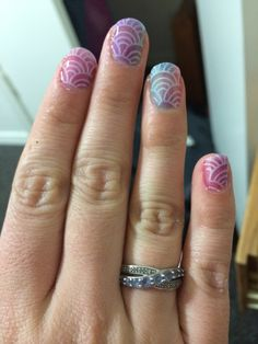 OPI sheer tints gradient with stamping