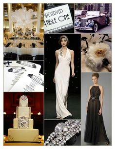 Art deco themed wedding inspiration