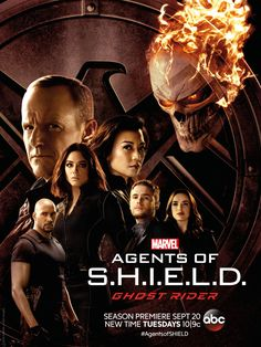 Agents of SHIELD  The team is joined by the floating head of Ghost Rider in a new poster.