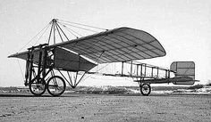 The plane Louis Bleriot used when he was the first first man to cross the English channel