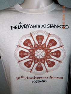 Vtg 80's Stanford Preservation Hall Jazz Band T Shirt Frost Amphitheater Medium #HanesFiftyFiftyCombed #GraphicTee #Casual