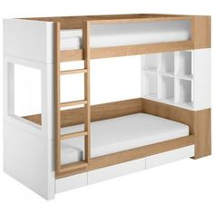 Modern Bunk Bed Designs Nurseryworks Duet Bunk Bed Modern Bunk Beds By Fawn&forest Added on June 2016 at Write Teens Bunk Beds With Storage, Bunk Beds With Stairs, Cool Bunk Beds, Bed Storage, Storage Cubes, Storage Area, Storage Drawers, Storage Shelves, Modern Kids Beds