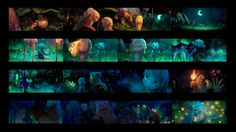 Storyboard Drawing, Animation Storyboard, Matte Painting, Forest Color, Color Script, Mood Colors, Game Concept Art, Color Studies, Traditional Paintings