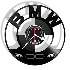 BMW vinyl Wall Clock-Modern room decor-Handmade Gift for .