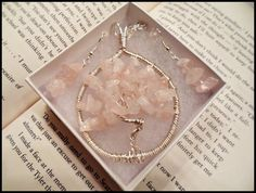 Pink Quartz Tree of Life Pendant, Tree Jewelry, Pink Jewelry, Quartz Stone, 3 Piece Set, Matching Jewelry Set, Bridal Jewelry, Gifts for Her