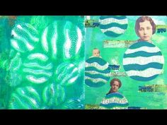 A Colorful Gelli Print Party for September. Video by Carolyn Dube. Stencils by StencilGirl