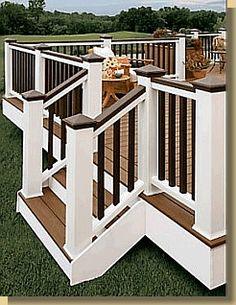 Exterior on pinterest decks deck railings and railings for Manhattan tan paint color