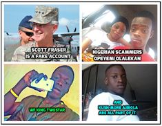 We warn about Scammers on Social Media. Romance for money. Frank James, James Scott, Taylor Jacobs, Facebook Scams, Scammer Pictures, Tamela Mann, Joe Cross, Dr Daniel, Chris Williams