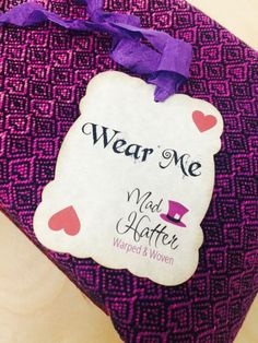 """""""Maleficent""""  (Mad Hatter Warped & Woven Baby Wrap)"""
