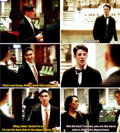 """""""Deadshot?"""" - Barry, Lawton from Earth-2 and Iris from Earth-2 #TheFlash ((That was a great surprise!))"""