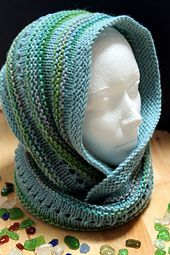 Ravelry: Calm Seas Cowl by Julie Witt - free pattern - when I first began knitting all I wanted to make was a hooded scarf.  This looks like it will be perfect, and fun to knit too