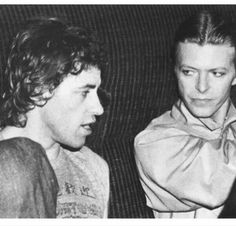 Bob Geldof and David Bowie, live Aide concert