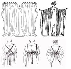 Garcia, J. Costumes of Ancient Greece - Ionic Chiton - Grecian Dress Roman Toga, Roman Dress, Toga Costume, Cosplay Costumes, Historical Costume, Historical Clothing, Toge Romaine, Diy Toga, Greece Costume