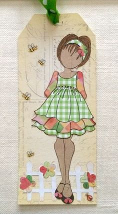 Annie Suzabella: Paper Doll Tags with Julie Nutting Stamps Prima Paper Dolls, Prima Doll Stamps, Atc Cards, Paper Cards, Hand Made Greeting Cards, Paper Artist, Dollar Store Crafts, Scrapbook Paper Crafts, Tag Art