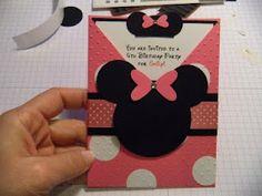 Coqueterias Manuales: TUTORIAL INVITACION DE MINNIE MOUSE Minnie Mouse Invitation Tutorial