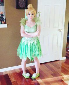 Peter Pan Tinkerbell Kostüm selber machen | Kostüm Idee zu Karneval, Halloween & Fasching