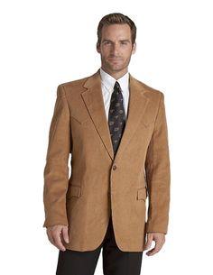 Circle S Men's Microsuede Sport Coat Tan CC4625