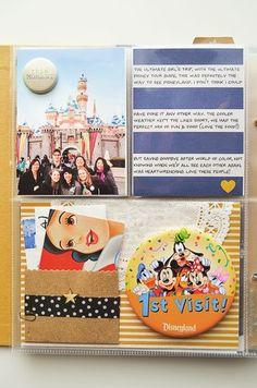 Project Life - Ideas & Inspiration - Disney World Page Inspiration Ideas Scrapbook, Project Life Scrapbook, Project Life Album, Project Life Layouts, Vacation Scrapbook, Disney Scrapbook Pages, Scrapbook Journal, Scrapbook Supplies, Project Life Disney