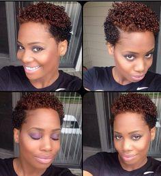 Short,Sassy.Sweet and Fun Short Natural Two Tone hairstyle