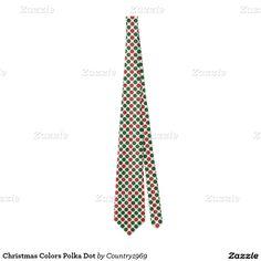 Christmas Colors Polka Dot Tie