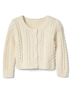 Gap Baby Cable-Knit Peplum Sweater Off White Peplum Sweater, Beige Sweater, Cropped Sweater, Baby Kids Clothes, Clothes For Women, Old Navy, Toddler Sweater, Cable Knit Cardigan, Baby Sweaters