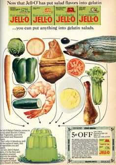 Savory Jello flavors - Food history is kind of amazing to me.