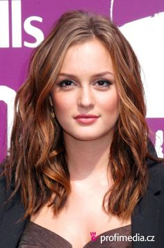 Leighton Meester - mid-length waves, Possible style & colour