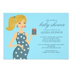 Baby Shower Invitations {Teal Blue}