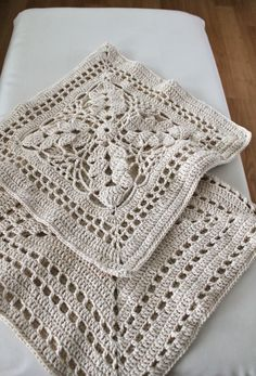 crocheted cushion covers