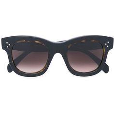 Céline Eyewear cat eye sunglasses (22.915 RUB) ❤ liked on Polyvore featuring accessories, eyewear, sunglasses, black, celine eyewear, acetate sunglasses, celine glasses, cat-eye glasses and cat eye sunglasses
