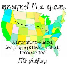 Around the USA Elementary Homeschool Unit Study - uses living literature to highlight events, people and facts. Also includes plans for geography memory work and project-based learning. 4th Grade Social Studies, Teaching Social Studies, Teaching History, History Education, Teaching Tools, Teaching Geography Elementary, 2nd Grade Geography, Teaching Materials, Teaching Kids