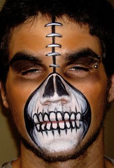 Scary Halloween Face Makeup for Men