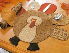Turkey Placemat Patt