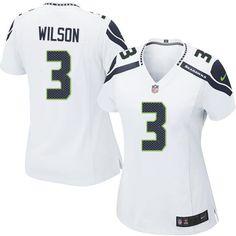 New Women s White Nike Elite Seattle Seahawks  3 Russell Wilson NFL Jersey   890544588