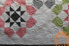 Piece N Quilt: Edge to Edge Machine Quilting Roses by Natalia Bonner