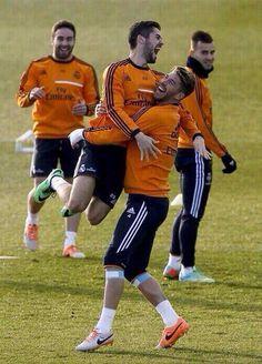 Isco y Sergio Ramos. Real Madrid