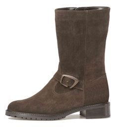 Palmroth short boot brown suede - Palmroth Shop Brown Boots, Brown Suede, All Weather Boots, Warm In The Winter, Short Boots, High Heels, Feminine, Legs, Stylish