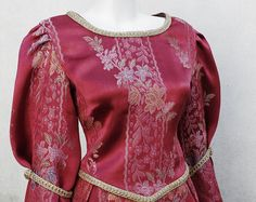 Medieval Embroidered Silk Dress