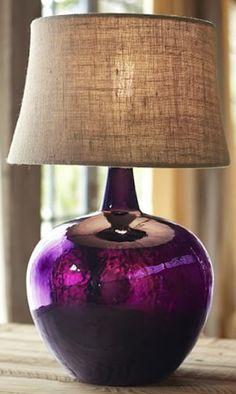 Demijohn table lamp aqua glass aqua and glass rich purple glass table lamp httprstylenizjymr9te mozeypictures Image collections