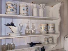 Küchenregal+XXL+Wandregal+Weiß++Shabby+Chic+90+cm+von+Schaut-her-und-mehr+auf+DaWanda.com