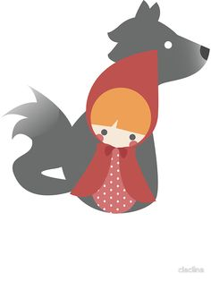 """little red riding hood"""" Stickers by claclina   Redbubble"""